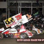 Schatz Slips through Melee in World of Outlaws Victory at Farmer City