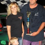 IMCA Hobby Stock Winner is: #17f, Lee Farmer, Bethany, MO -- Photo by PictureMeRacing.com
