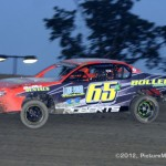 IMCA Stock Car Winner is: #65x, Thomas Roberts, Kidder, MO. -- Photo by: PictureMeRacing.com