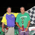 IMCA Hobby Stock Winner is: #17f, Lee Farmer, Bethany, MO