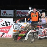 David Weitholder     Miller Lite Modified winner. Photo by Randy Brown