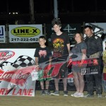 Dwayne Keifer from  St. Genevieve,Mo. U.M.P. Super Late Model winner. Photo by Randy Brown