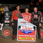 Kyle Larson wins back-to-back in POWRi National Midgets at US 36 Raceway