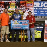 Chris Simpson wins Corn Belt Clash at Lafayette County Speedway.
