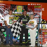 SPRING VALLEY, MINN (Sept 1, 2012) – Chad Simpson pulls out a feature win in the Corn Belt Clash Late Model Series at Deer Creek Speedway!