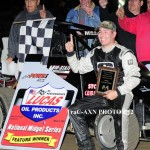 Stratton wins POWRi Midget feature, Beckinger captures 600cc Micros at Jacksonville