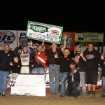 Bobby Pierce Jr. takes the 50 Lap A-Main during the Brent Slocum event at 34 Raceway