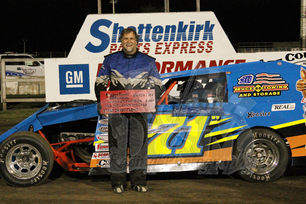 Jeff waterman quincy il wins the mod feature at lee for Finnicum motors lee county