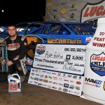 Gustin Rolls in Lucas Oil MLRA Stop at Humboldt Speedway