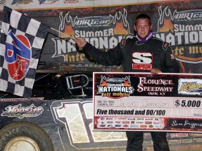 Jamison Outduels Shirley in 2014 DIRTcar Summer Nationals Thriller at Florence Speedway