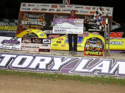 Birkhofer Rockets to Second Win of 2014 DIRTcar Summer Nationals Season at LaSalle Speedway