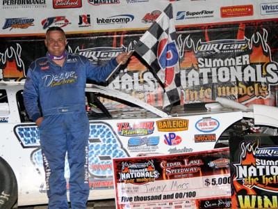 Mars Lands in Cedar Lake Speedway Victory Lane for DIRTcar Summer Nationals Win