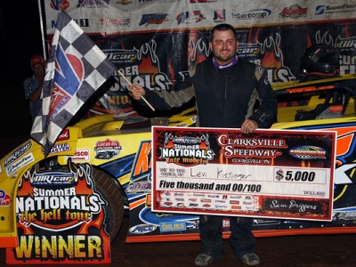 Kissinger Holds Off Wallace at Clarksville, Earns First DIRTcar Summer Nationals Victory of His Career