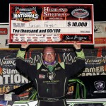Feger Passes Moyer at Highland Speedway, Earns Third DIRTcar Summer Nationals Victory of the Season