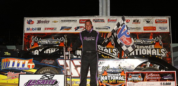Simpson Surges to DIRTcar Summer Nationals Win at La Salle Speedway