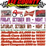 """4th Annual Fall Extravaganza"" Will Bring the Lee County Speedway Back Into Action"
