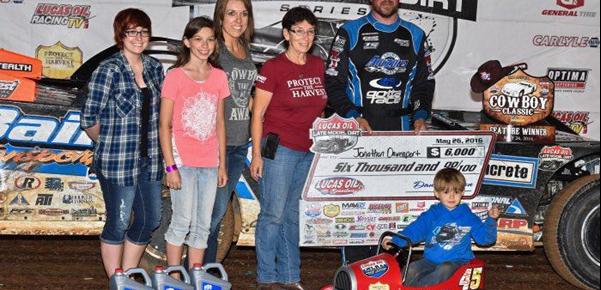 Davenport kicks off Show-Me 100 weekend with Cowboy Classic triumph