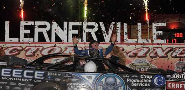 Scott Bloomquist becomes the first three-time winner of the Firecracker 100