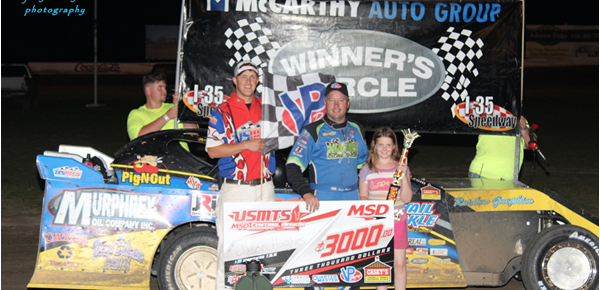 Hughes, Grant, Hanes and Burnett all Claim Wins at I-35 Speedway Winston, MO!!!
