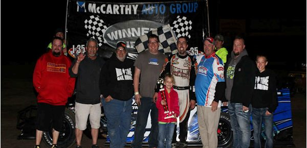 Fuqua, Eaton, Scott all USRA Winners on Walker Dozing Night at I-35 Speedway!!