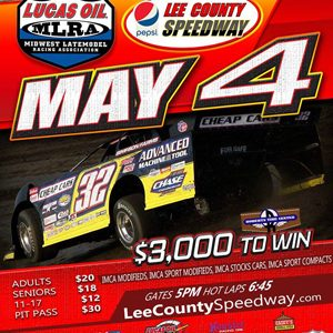 Lucas Oil MLRA Late Models Set to Invade the Lee County Speedway on Thursday