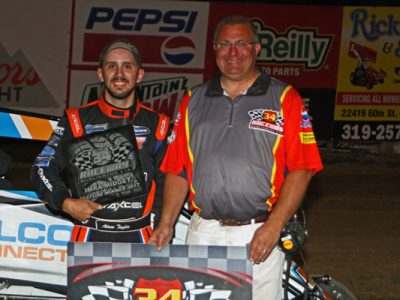 Krieger and LaVeine Score First Wins of the Season at 34 Raceway