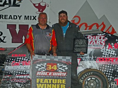 Fisher Scores First Career 305 Sprint Feature Win at 34 Raceway