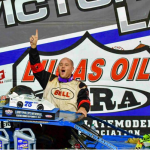 Timms leads the lap that counts to claim Larry Phillips Memorial at Lucas Oil Speedway